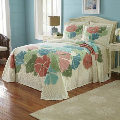 Celeste Chenille Bedspread And Sham Montgomery Ward Catalog Pretty Bedding Linens