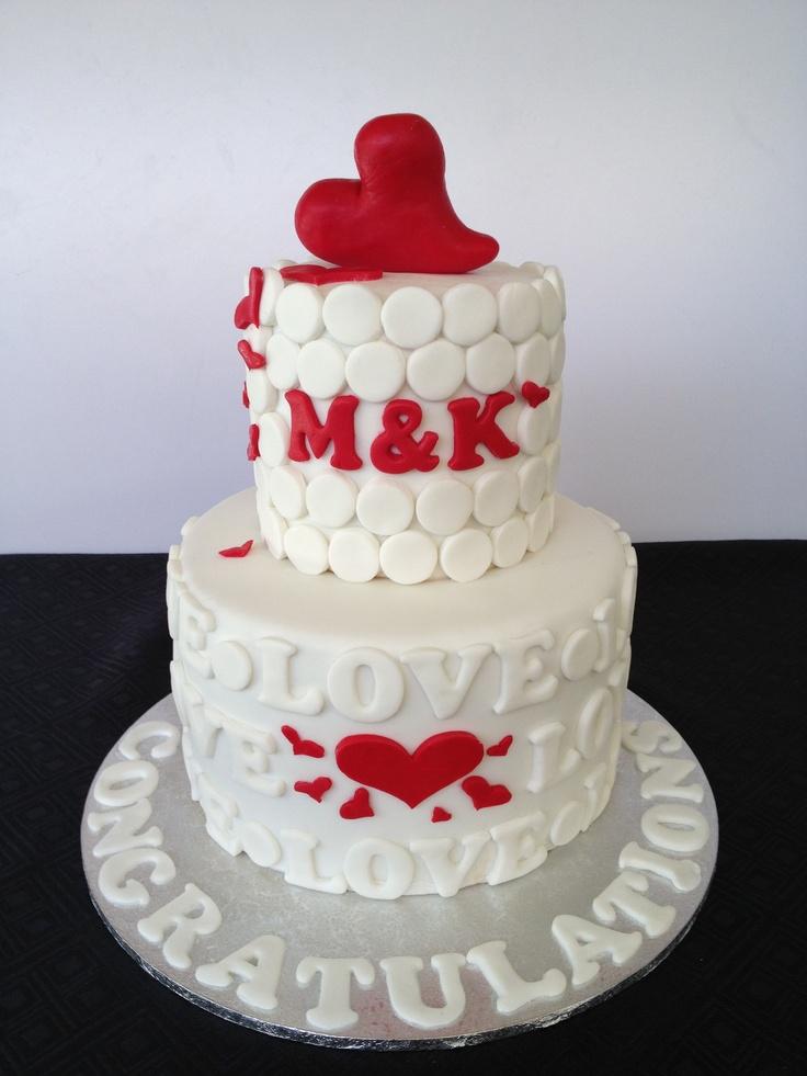 2 Tier Chocolate Engagement Cake