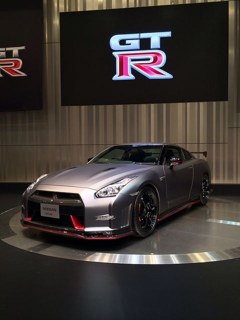 2014 Nismo Nissan GT-R. What a sexy beast! Being showed off to the world..... #NissanGTR
