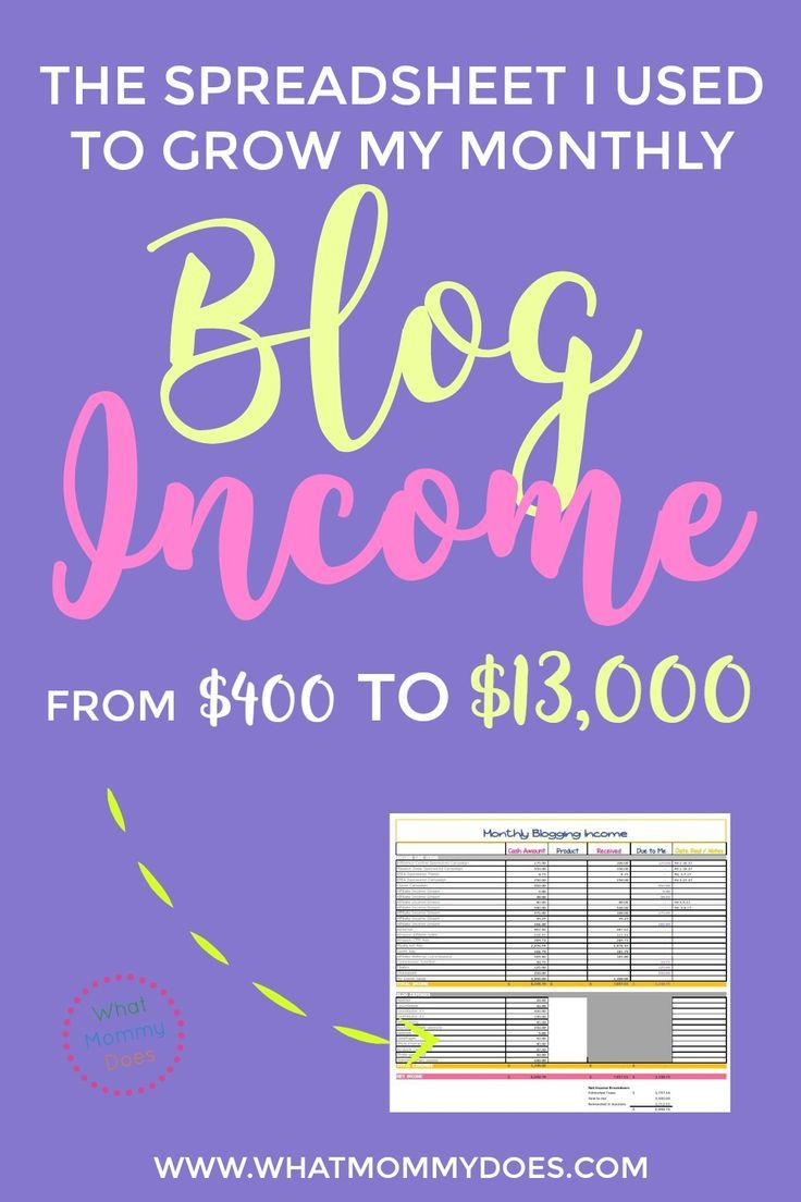 This is the EXACT income tracking spreadsheet I used to grow my lifestyle blog from basically nothing to $13,000+ per month!! You can get this free blog income tracker + tips on building a blog that makes good money. | money making blog, blogging tips, lifestyle blog, stay at home mom blogger, side income