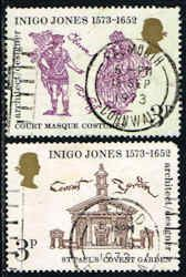 Inigo Jones Stamps - Famous Architect - Great Britain #701-702 Stamps - EU GB 701 to 702-1 USED