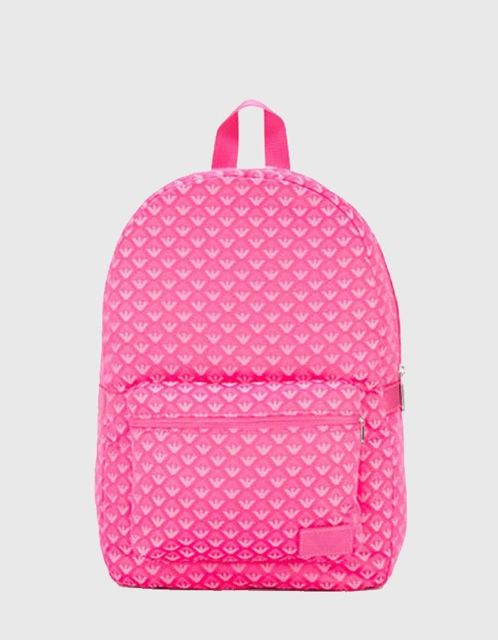 Armani Junior Allover Logo bag Pink | Accent Clothing