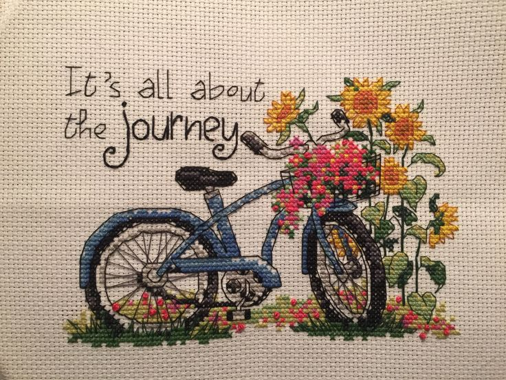 """Cross Stitch """"it's all about the Journey"""""""