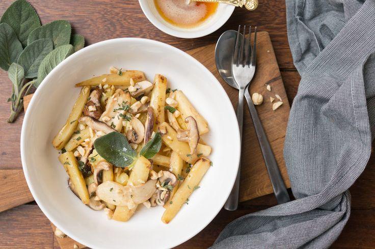Andere pasta toevoegen: gnocchi met pastinaak, beurre noisette, hazelnoten en salie