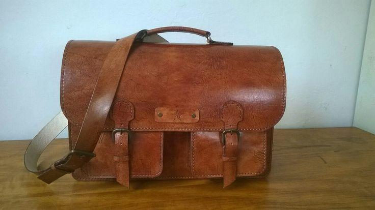 Leather Bag #invictusleather  #leatherbag  #handstitchedleather   Visit us at: www.facebook.com/invictusleather