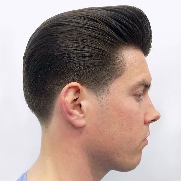how to cut a pompadour for balding man