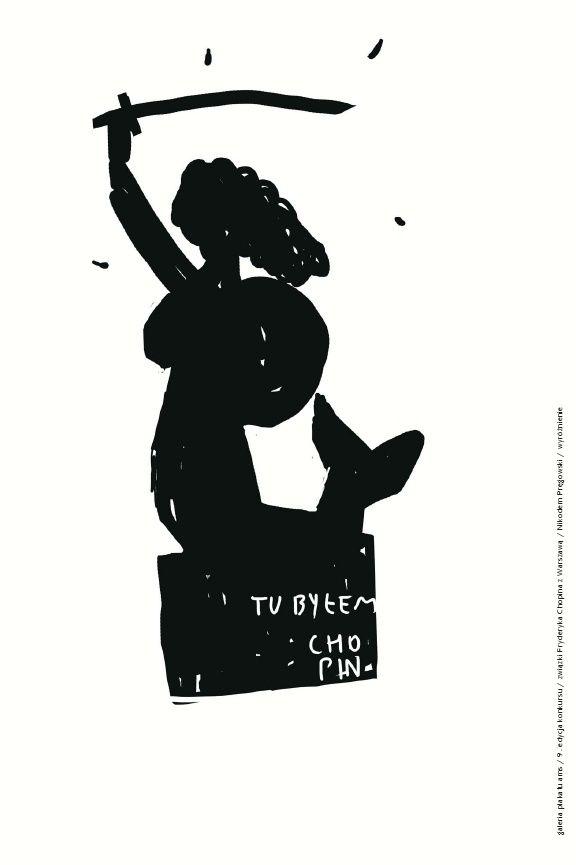 FRYDERYKU! WRÓĆ DO WARSZAWY! / COME BACK TO WARSAW, FRYDERYK! 9. edycja konkursu Galerii Plakatu AMS, temat: związki Fryderyka Chopina z Warszawą (2009)/ 9th edition of the AMS Poster Gallery competition, theme: Fryderyk Chopin's connections with Warsaw (2009) NIKODEM PRĘGOWSKI - WYRÓŻNIENIE