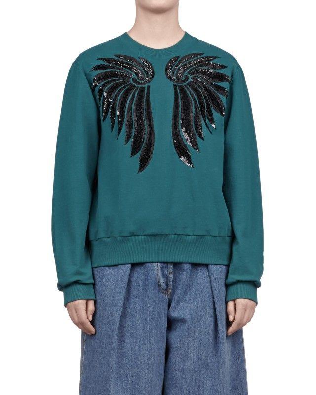 Dries Van Noten Holmon Bis Sweater. Embellished TopSequin ...