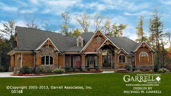 Amicalola Cottage House Plan 05168, Front Elevation, Mountain Style House Plans, Craftsman Style House Plans
