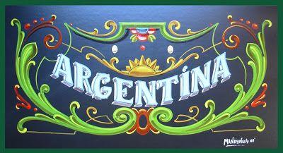 MANDYNGA - FILETEADO PORTEÑO - Artefileteado: ARGENTINA - Fileteado Porteño