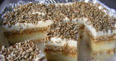 Ciasto z karmelem, masą budyniową i prażonym słonecznikiem