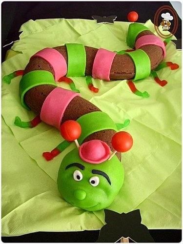 Gâteau Chenille