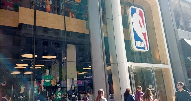 NBA Store on Fifth and 45th