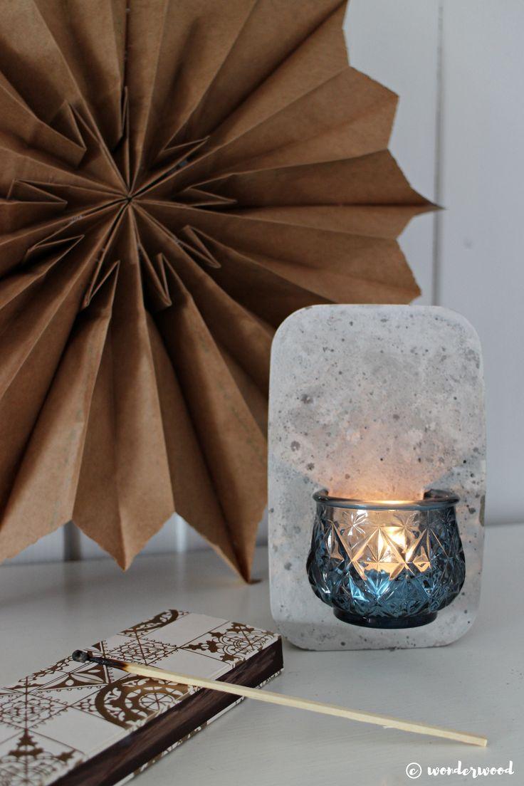 TIPS TIL HJEMMELAGDE JULEGAVER 4: diy vegglysestake i betong // HOMEMADE CHRISTMAS GIFT IDEAS 4: diy concrete wall candle holder
