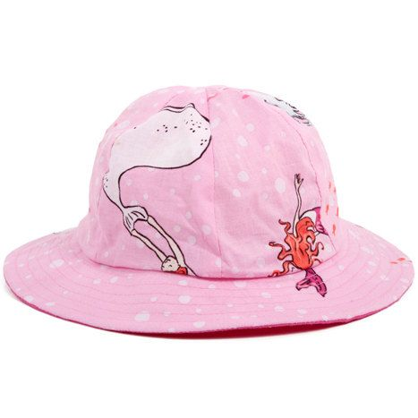Garden Hat | Pink Mermaids | By myang