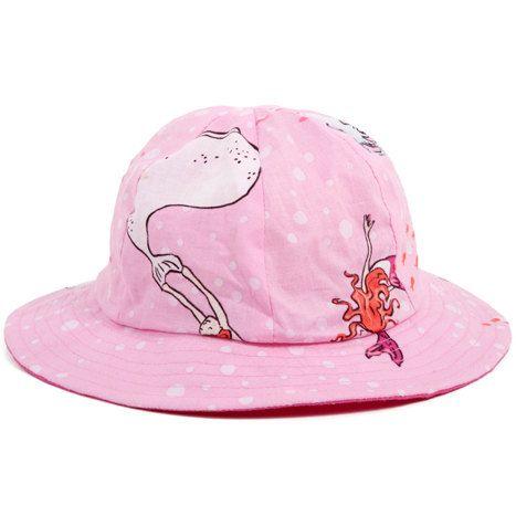 Garden Hat | Pink Mermaids | By myang