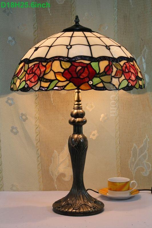 Rose Tiffany Lamp 18S0-51T311