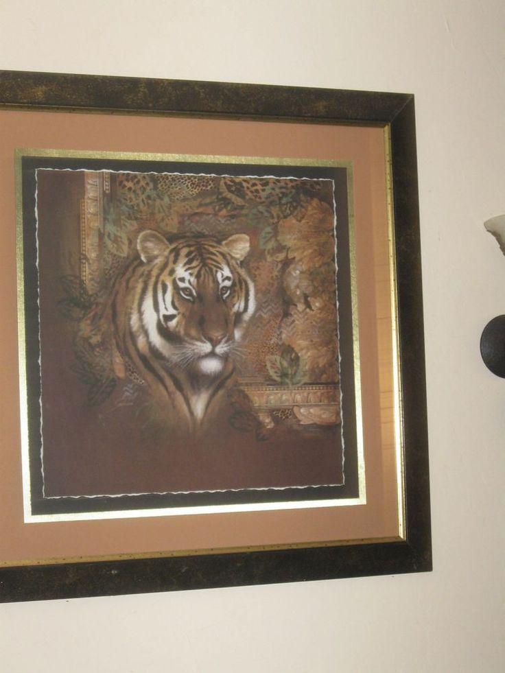 safari tiger picture home interior beautiful size 36x36