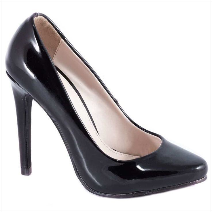 Pantofi negri cu toc 51598N-PU - Reducere 60% - Zibra