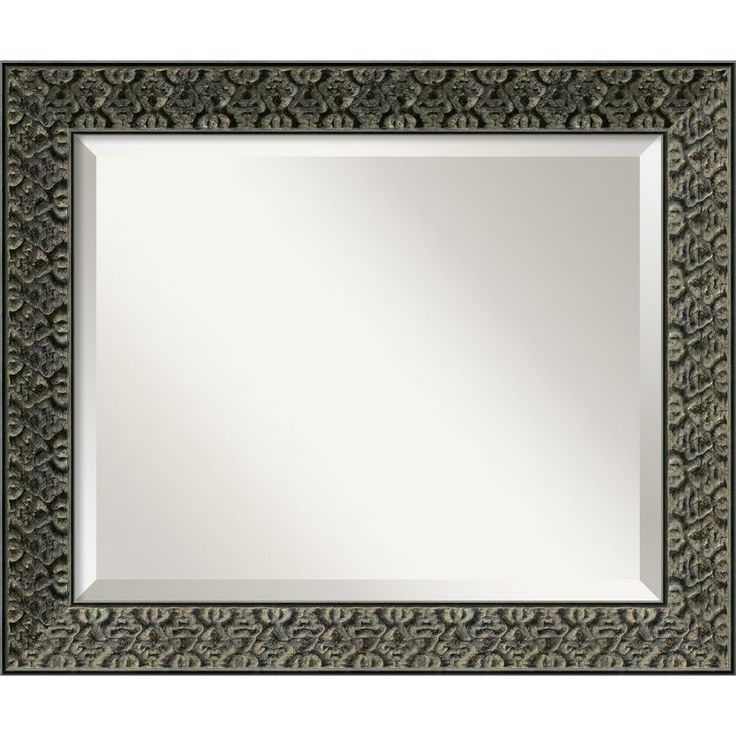 intaglio antique black 24 x 20 medium wall mirror intaglio antique black framed mirror - Mirror With Black Frame