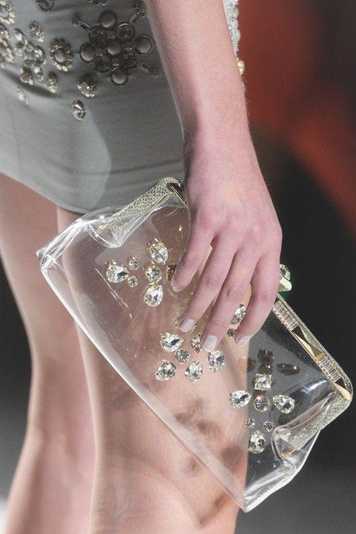 See through clutch - so elegant!