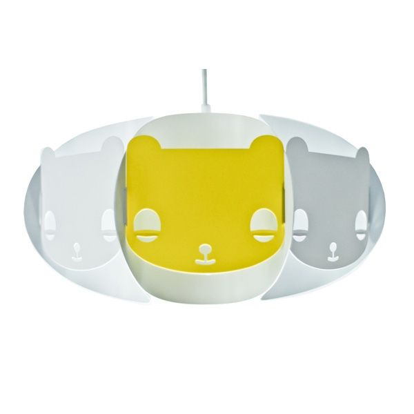 Mishka Lamp for kids - Kafti Design  Mishka is a lamp-friend of every child. It's available in white, with one customised colour element.