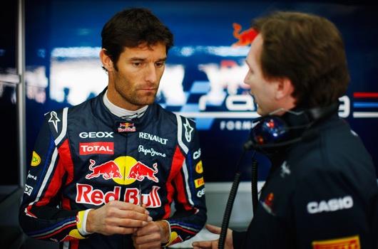 """Horner: """"Webber è felice alla Red Bull"""""""