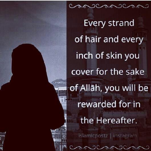 Cover your skin and hair