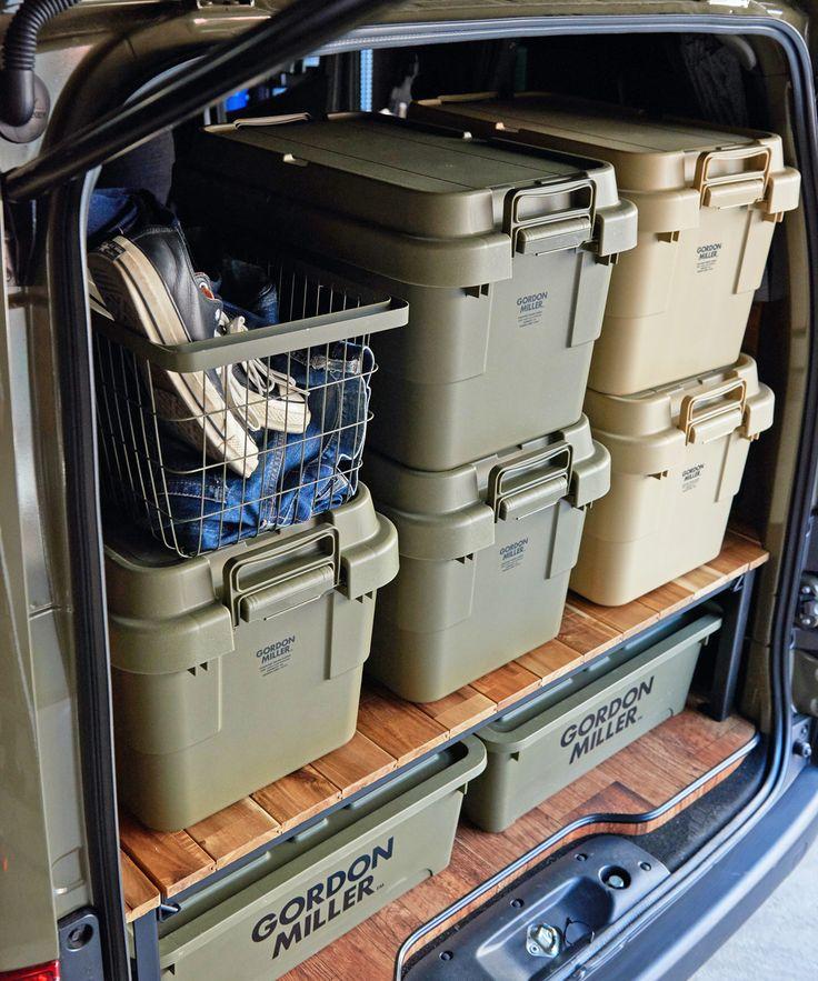 Gordon Miller Stacking Trunk Cargo 50l 2colors ゴードンミラー スタッキング トランクカーゴ Olive Drab Coyote Jack Marie Online Shop ジャックアンドマリー 公式サイト キャンプ道具 収納 モトラ 車 便利