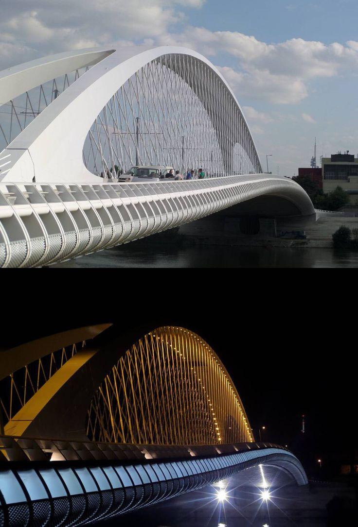 Trojský most (Troja bridge), Prague, Czechia #bridge #Pragze #architecture…