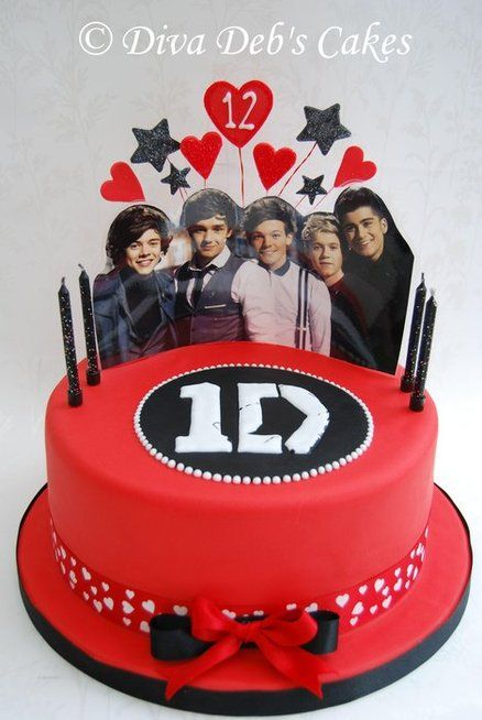 One Direction cake! Check for party supples at www.partyweb.us #onedirectionpartysupplies