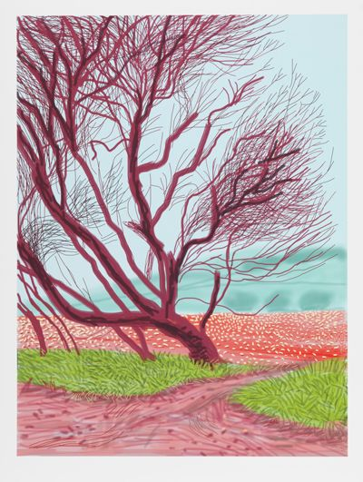 New David Hockney exhibition pics – An exhibition of drawings and iPad prints by the famous Yorkshire artist will go on show at Annely Juda Fine Art in London this week (May 2014)