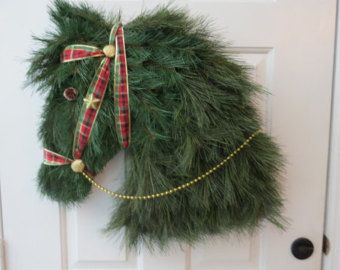 horse head wreath horse shaped wreath kentucky derby wreath guess who will have - Decorative Wreaths