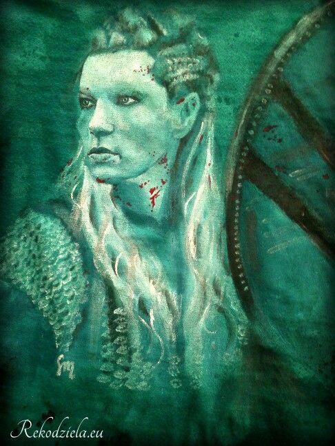 #LagerthaLothbrok #Vikings - my newest painting at ladies #shirt.