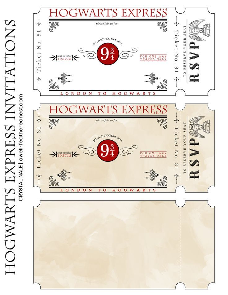 Hogwarts Express Tickets