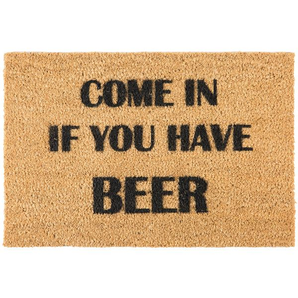 Artsy Doormats Beer Door Mat ($31) ❤ Liked On Polyvore Featuring Home,  Outdoors