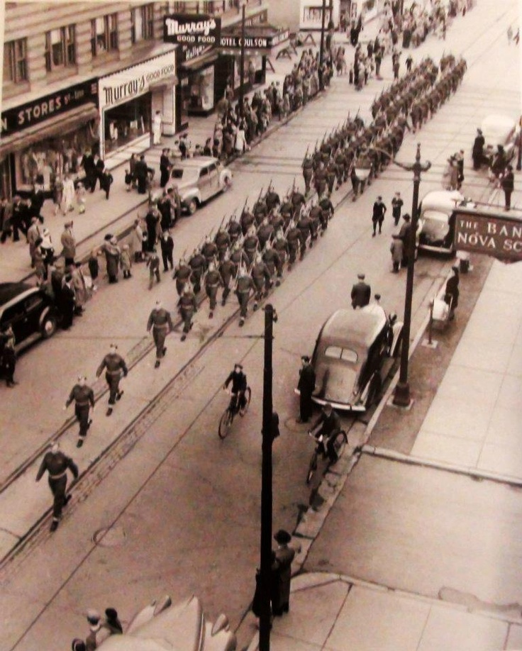 Sudbury's Fine 'Past & Future' Let's Reminisce: Remberence Day Parade of 1945. 489 young men of sudbury gave their lives to fight in the war.