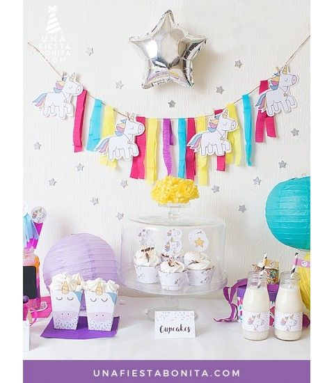 Kit imprimible de unicornios con enamorables ilustraciones llenas de magia y mucho amor. Crea un rinconcito maravilloso lleno de color y sorprende a todos con una bonita fiesta, tus familiares y amigos amar