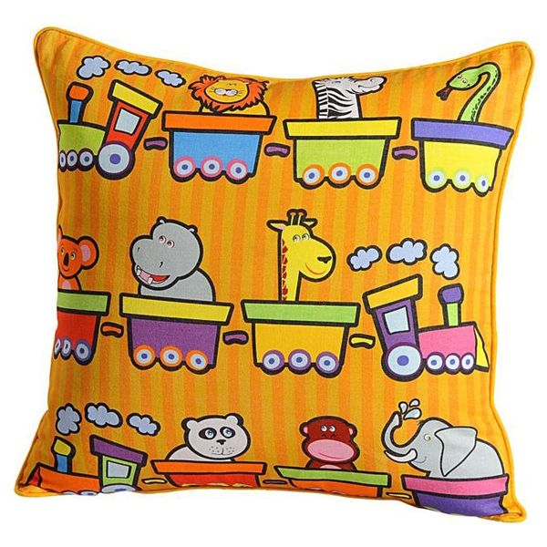 Chuk Chuk Kids #Cushion_Covers- Let your #child relive those vacation memories and the #joyful #train ride as he glances over these #cushion_covers.