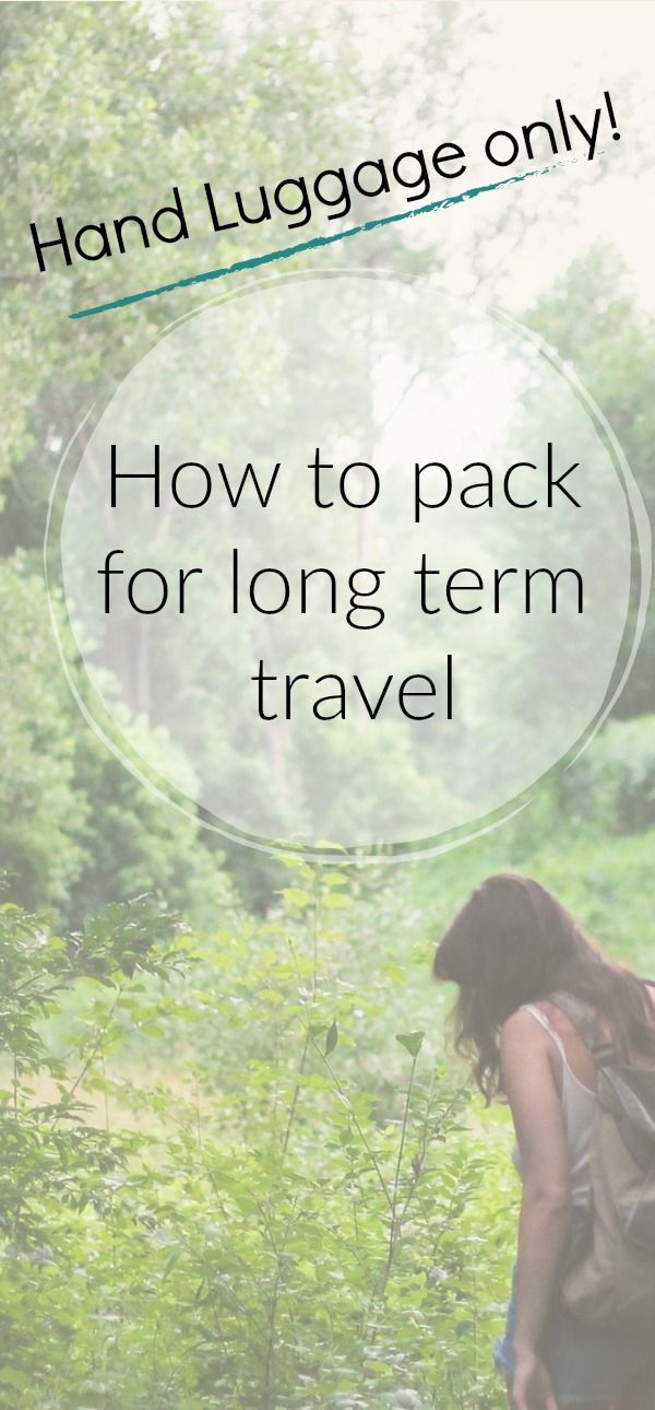how to #pack for #longterm #travel when #traveling with #handluggage only. Become a #lightweight #traveler with our #packingtips  via @4onaworldtrip