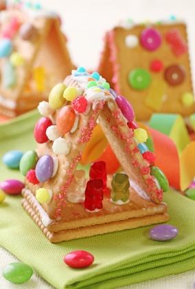 Activiteit en lekkers: Snoephuisje van biscuitjes