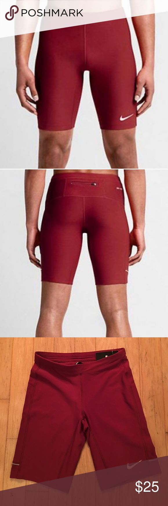 Nike Filament Men's Running Shorts (Cardinal) Provide a comfortable, locked-in fit during your workout with sweat-wicking stretch fabric. Stretch waist with interior drawcord for a snug fit. Zip pocket at back securely stores small items. Nike Shorts Athletic