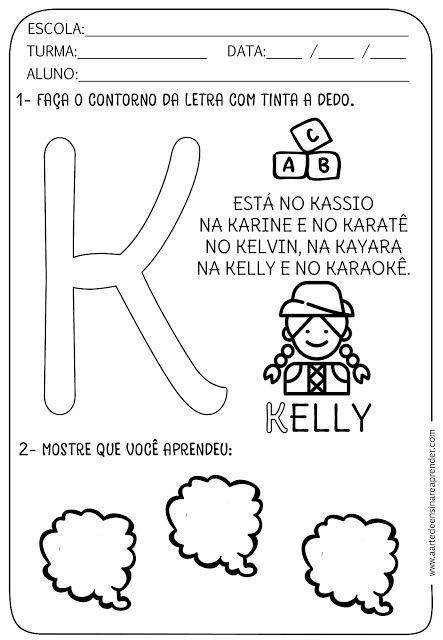 Atividade pronta - Alfabeto: Letra K
