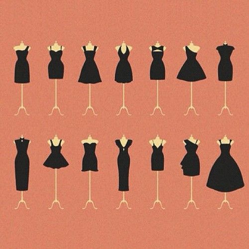 a variety of little black dresses | Tumblr
