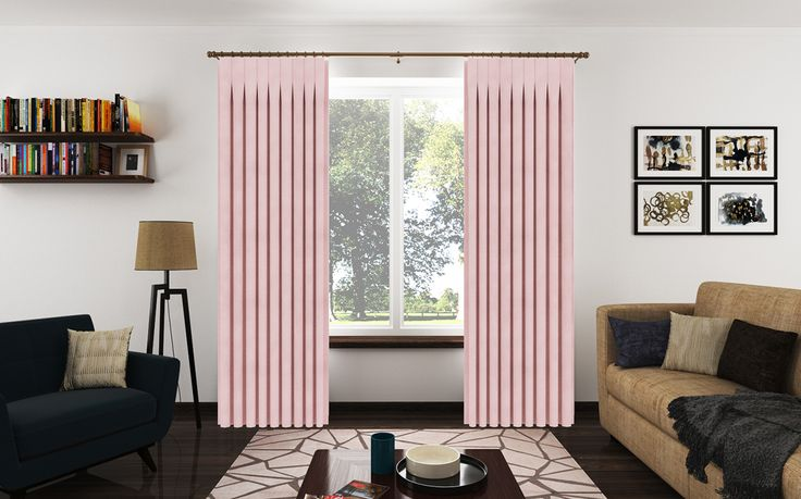 Inverted Pleat Drapery Panels from a Chenille fabric with a beautiful velvet feel.
