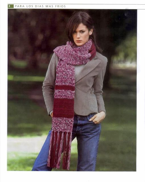 Mejores 184 imágenes de bufandas en Pinterest | Bufandas, Crochet ...