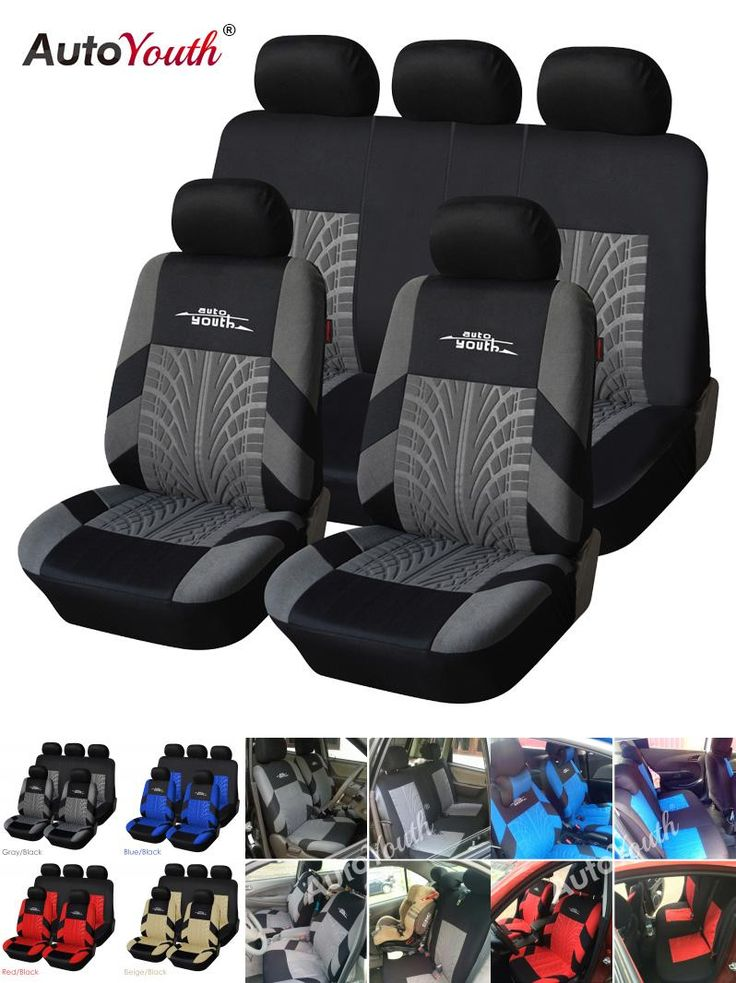[Visit to Buy] AUTOYOUTH Brand Embroidery Car Seat Covers Set Universal Fit Most Cars Covers with Tire Track Detail Styling Car Seat Protector #Advertisement