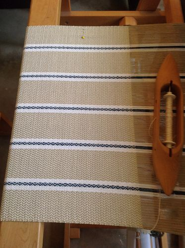 Ravelry: patternwhisperer's Tan blue stripe towels
