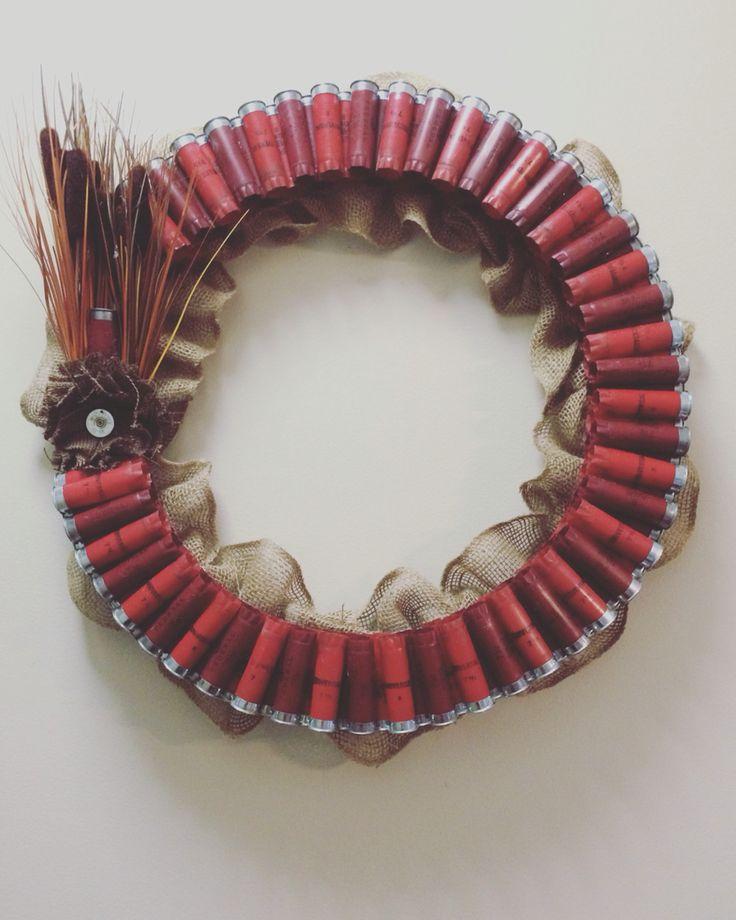 My homemade shotgun shell wreath.