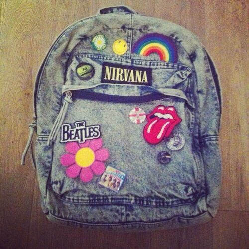 My jean backpack looked like this in 6th grade